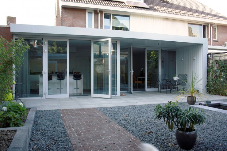 Verbouwing Woonhuis XZ - Leefkeuken Tuinpaviljoen - Architect Ir Rolf Moors Eindhoven - 01 def