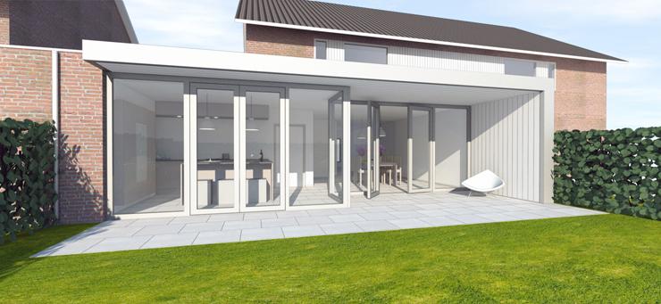 Architect ir rolf moors eindhoven verbouwing huis veldhoven ir rolf moors architect eindhoven - Huis voor na ...
