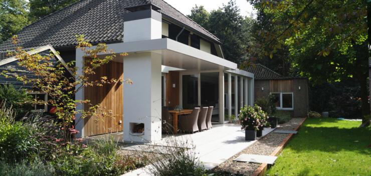 Verbouw woonhuis Heeze-Leende - Moderne Verbouwing Buitenhaard Veranda - Ir. Rolf Moors Architect Eindhoven